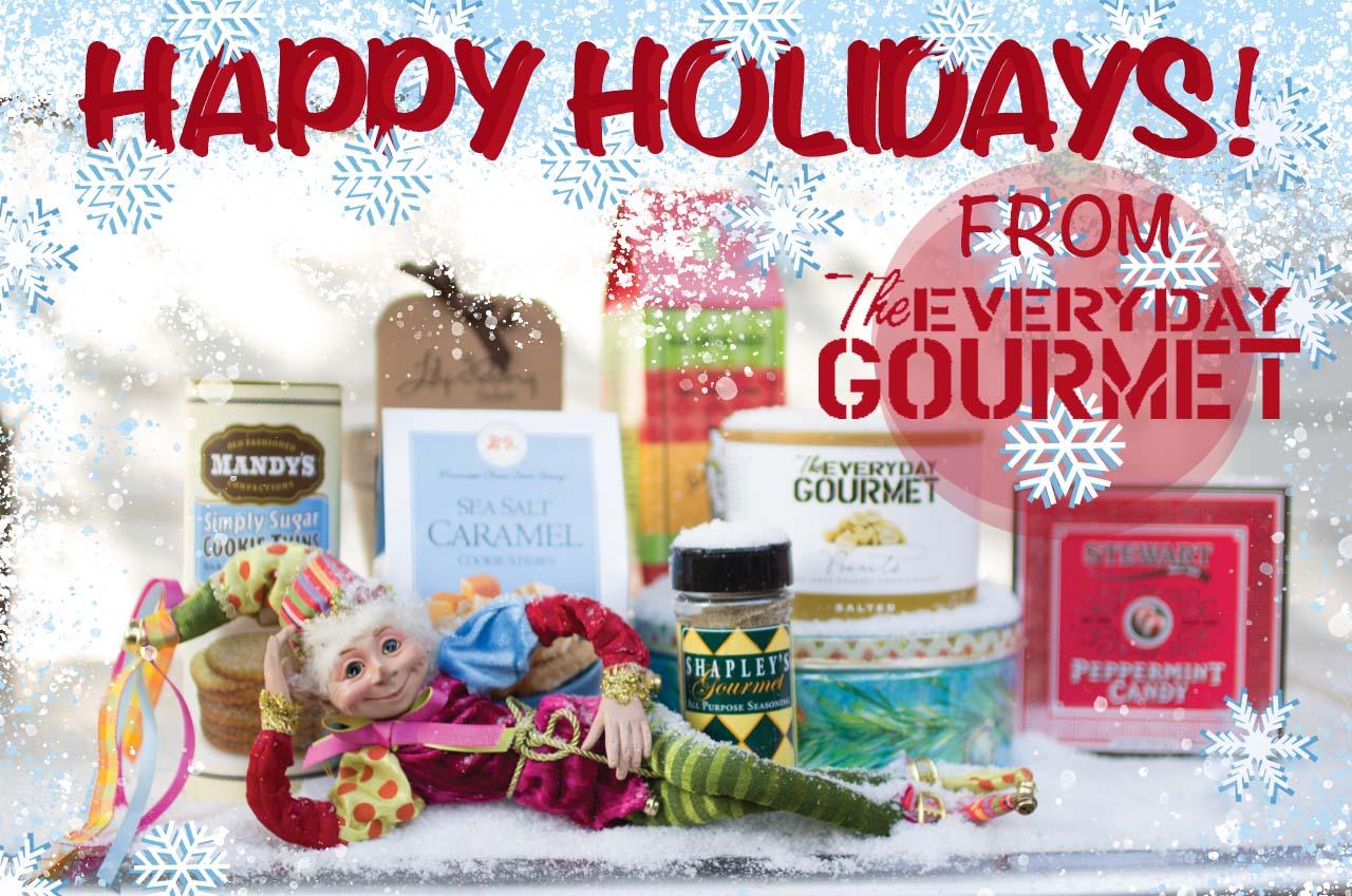 everyday gourmet merry christmas banner